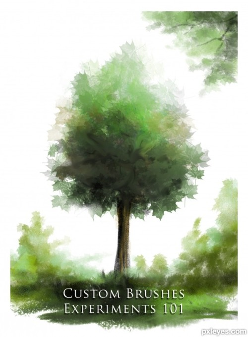 Create beautiful custom brushes for painting trees  by Hayato