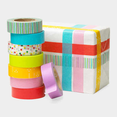 Patterns and Colors Washi Tape, $30.00, Momastore.org i used to wrap gifts in paper torn from old magazines. my latest gift-wrapping obsession is Japanese washi tape, made from handmade paper.