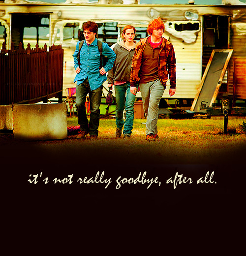 It's not really goodbye, after all.