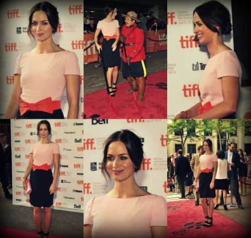 irregularheart:  Emily Blunt at the premier of Your Sister's Sister - Toronto International Film Festival.