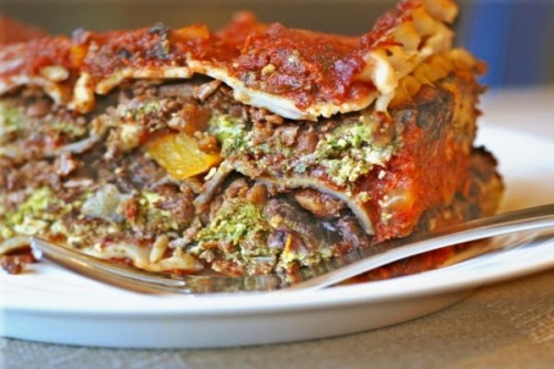 "Recipe: Homemade, Veggie-Full Ground ""Meat"". VEGAN, SOY FREE.  You can use this ""meat"" as a base for lasagna or as the main ingredient in a wonderful tortière (meat pie) that's impressive served as the main dish at a holiday meal. Alternatively, simply sprinkle some over your spaghetti and marinara sauce (I wouldn't recommend cooking it in the sauce, as it will simply dissolve right in—though the flavors will still be delicious!). I've also used this ""meat"" as a topper over pizza, added it to wraps and sprinkled my chili with it.  Smoky, meaty, all natural, a good source of protein—and entirely plant-based. What better reason do you need to give up that meat?  Meaty Veg-Based Ground ""Meat"" (Easily Soy-Free)  Ingredients:  1 medium head cauliflower, trimmed and washed, broken into florets (about 1 pound/450 g after trimming) 2 cups (250 g) raw walnut halves 2 Tbsp (30 ml) extra virgin olive oil, preferably organic 2 cloves garlic, minced, or 1tsp (5 ml) garlic powder 1/4 tsp (1 ml) dried sage 1/2 tsp (2.5 ml) smoked paprika 1 tsp (5 ml) liquid smoke 1/2-3/4 tsp (2.5-3.5 ml) fine sea salt, to taste 2  Tbsp (30 ml) Bragg's liquid aminos, soy sauce, or tamari (omit for an entirely soy-free ""meat"") Preparation:  Preheat oven to 350 F (180C).  Line a large rimmed cookie sheet or rectangular pan with parchment, or spray with nonstick spray. In a food processor, blend the cauliflower and nuts to a fine meal.  Depending on how grainy you like your ""meat,"" it can be more or less fine; I made mine like a coarse cornmeal. Transfer the mixture to a large bowl and add remaining ingredients. Using your (clean) hands, knead everything together thoroughly, until the grounds are uniformly coated. Turn the mixture into the pan and spread out evenly.  Bake for 45 minutes and up to 1 hour 15 minutes (it will depend on the size of the pan and how thick the mixture is when you first begin to bake it), stirring after 30 minutes and then every 15 minutes after that, until the meat is dry and brown (if the layer underneath comes up looking wet and white–as cauliflower tends to do–then you need to keep baking).  The grounds will begin to separate and intensify in color as they roast. Once the meat is cooked, you can cool, package, and freeze it for later use, or use it right away.  Will keep, up to 3 days, covered in the refrigerator.  May be frozen."