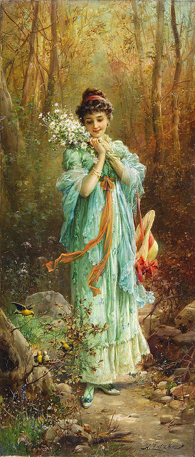 calculatedgrace:  Edelweiss la Foret by Hans Zatzka