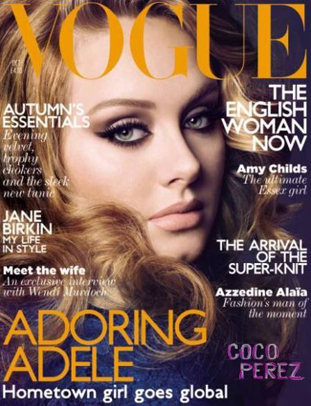 Vogue UK October 2011 - Adele Unbelievably gorgeous