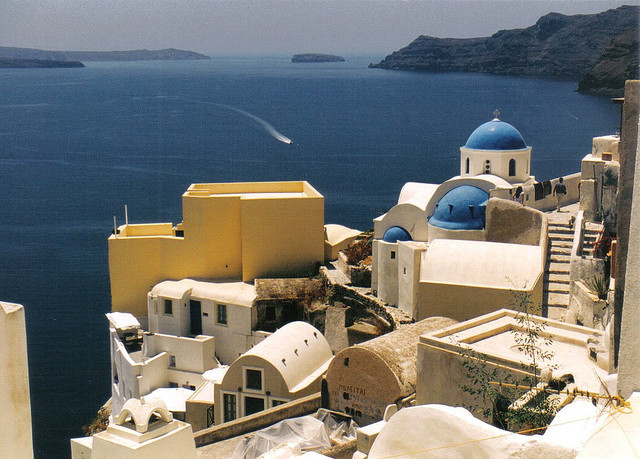 | ♕ |  Aegean view - Fira, Santorini   |  by Sheldon Wood