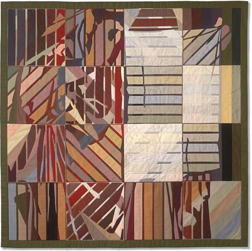 jbe200quilts:  Well-Handled Cloth by Anne McKenzie Nickolson - 47 x 47 inches Machine pieced, hand appliquéd through all layers, embroidery