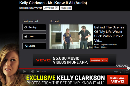 kchivas:  Ohhh Vevo, have we mentioned how much we love you?