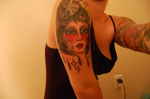chest tattoo girls idea
