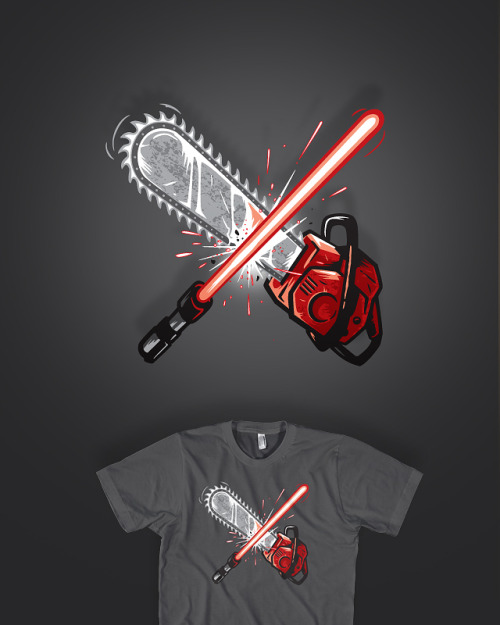 """The Ultimate Battle"" wanna see it printed? VOTE HERE —> http://www.threadless.com/submission/369211/The_Ultimate_Battle"