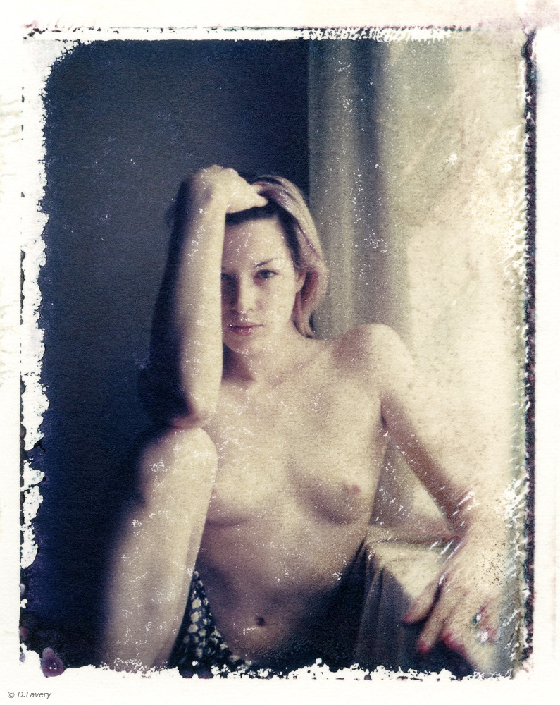 Polaroid 669 transfer. one of my favorite shots, of one of the nicest girls ever. © D.Lavery