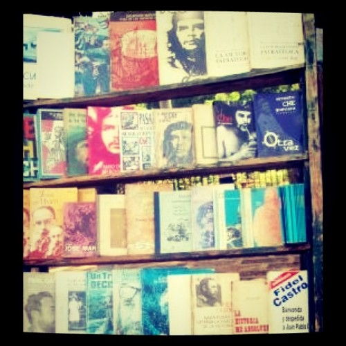 Wall of Che books, Old Havana Cuba  (Taken with instagram)