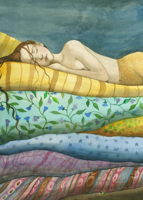 "fairytalemood:  ""The Princess and the Pea"" by Capucine Mazille"