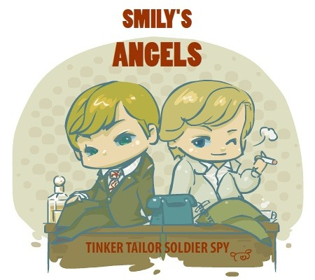 fuckyeahtinkertailorsoldierspy:  ttssfandom:  tailofbunny:  SMILY'S  ANGELS  So adorable!  Mod Notes: I am laughing entirely too hard at this.