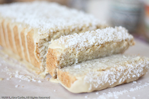 veganfeast:  gluten free and vegan coconut lime loaf by PeaSoupEats on Flickr. Yummy!