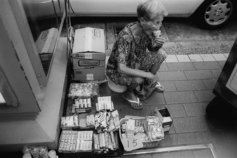 welcome to the candy shop Taipei, Taiwan, Nikon F3HP, Kodak TMax 100, August 2011