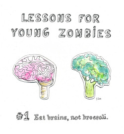 zombienice:  Illustration Friday: Lesson by J.L. Martin on Flickr. The Zombie-Driven Life: What in the Apocalypse Am I Here For?
