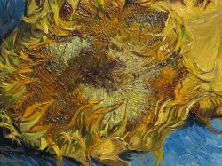 artdetails:  Detail of Vincent van Gogh's Sunflowers
