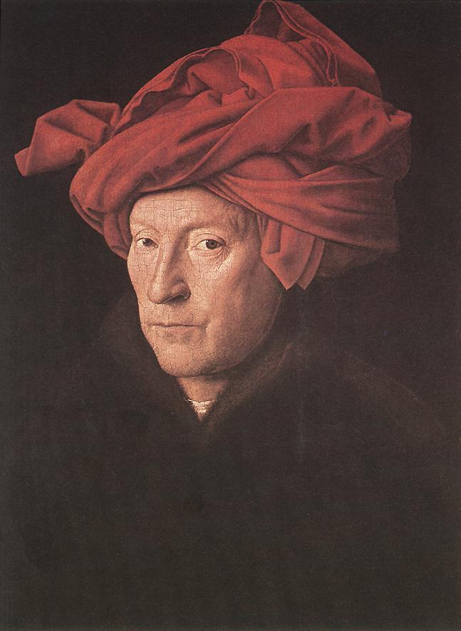 """Man in a Red Turban,"" Jan van Eyck. 1433"