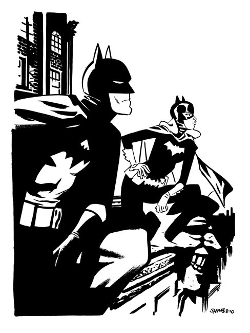 Batman and Batgirl By Chris Samnee