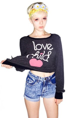 doeyed:  Wildfox Couture Love Child Baggy Beach Jumper available at DollsKill.com