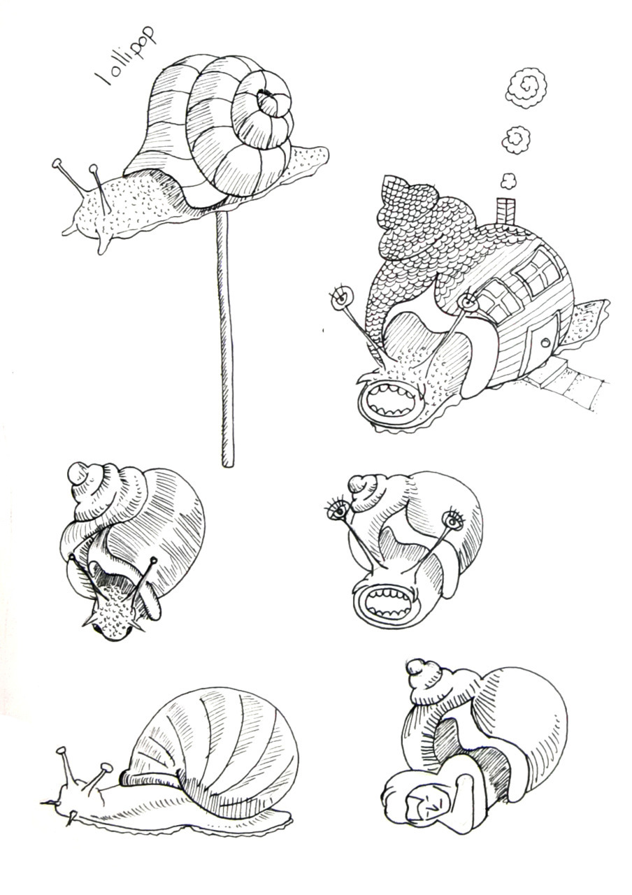 I was drawing snails last night. Any way i illustrated one of them in Illustrator and it looks pretty cool. I will leave you wondering till tomorrow :) GarryHannah.org/gh/