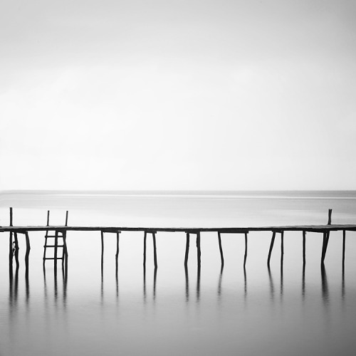 black-and-white:  pier | by Hengki24