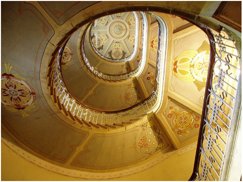 dazzlingagony:  Art Nouveau Staircase photography by Dappers, Riga, Latvia