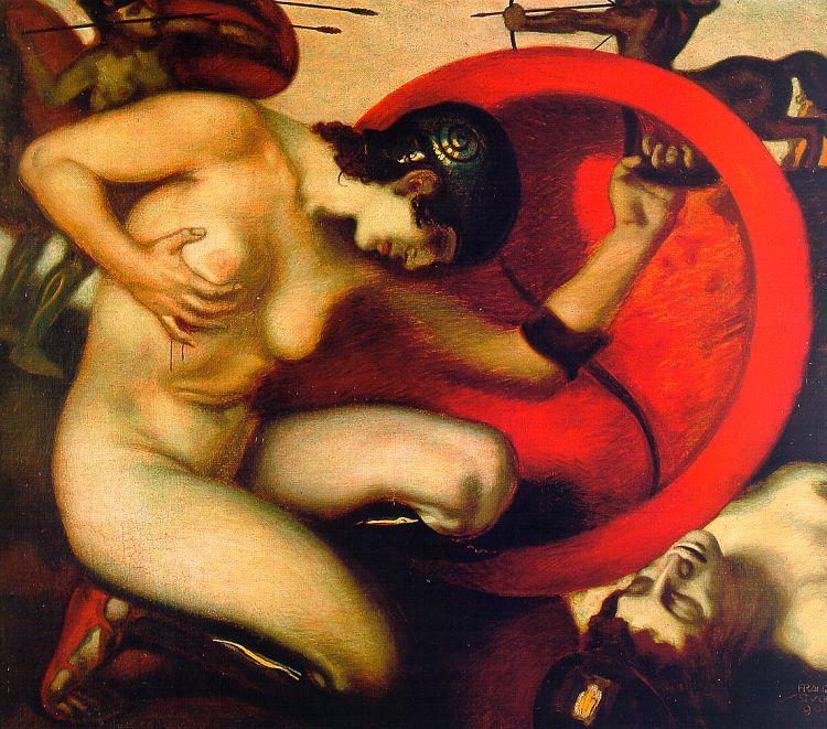 """Wounded Amazon,"" Franz von Stuck. 1903"