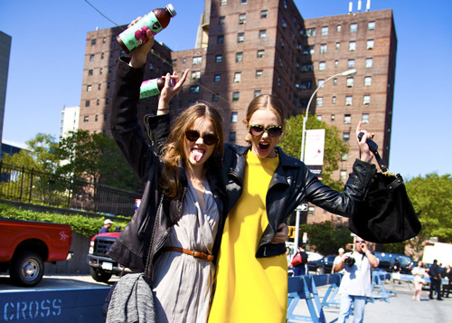 bonaelamour:  Monika Jac Jagaciak & Frida Gustavsson (in) Raw Moments After Carolina Herrera SS 2012, Jac and Frida gave me exactly what I wanted, which is them being happy, goofy, and especially themselves… <3 <3 — Follow Bonae L'amour on facebook | twitter …