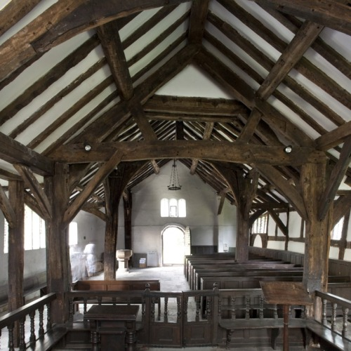 The medieval timber framed beauty of St. Werburgh's Warburton More pics here: http://gallery.me.com/andymarshall#100493&view=carouseljs&sel=0