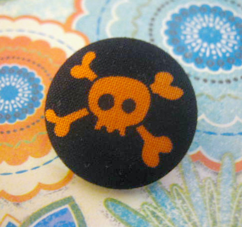 Poison, halloween style. Button brooch pin. on Flickr.
