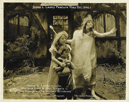 theloudestvoice:  Lobby card for The House with the Golden Windows, 1916 (link)