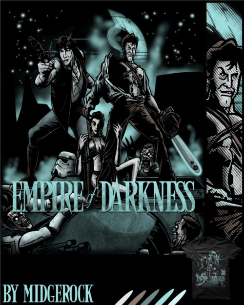 the-rbc:  New #starwars and #armyofdarkness inspired design up @redbubble for sale. #hansolo #ash  Fantastic!