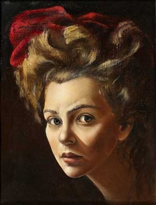 Leonor Fini, Self-Portrait with red turban, 1938