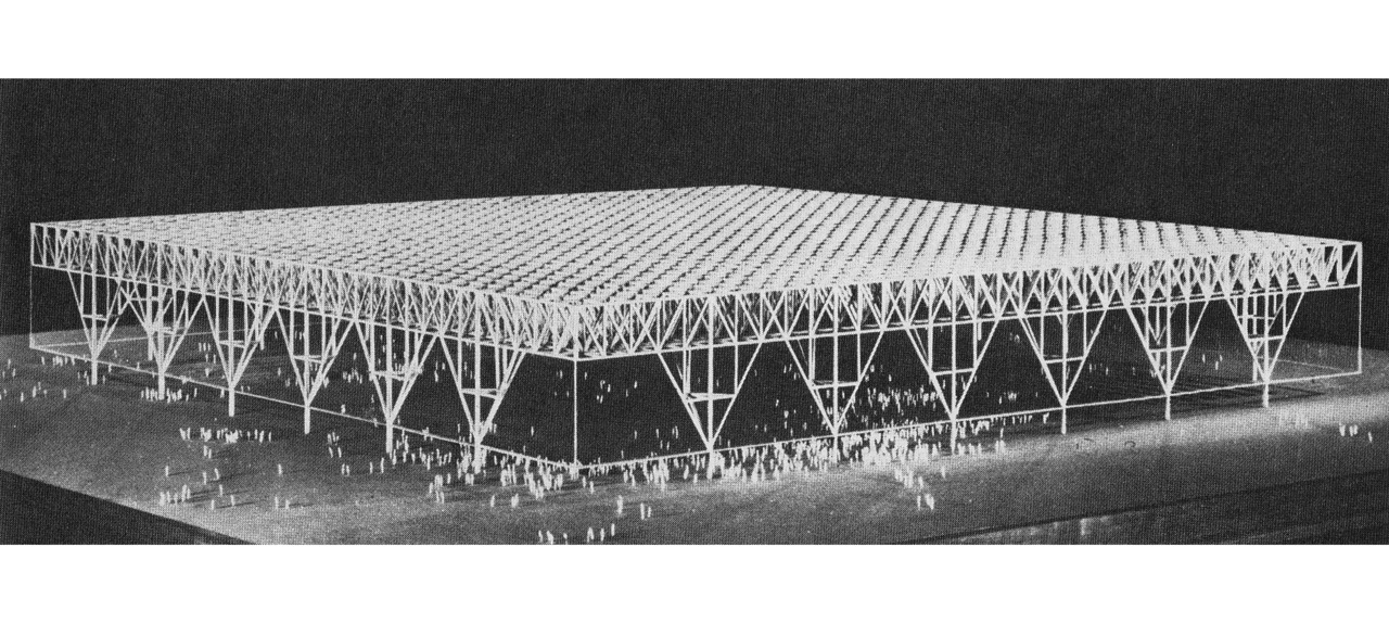 Mies van der Rohe's projected Convention Hall in 1953, Chicago