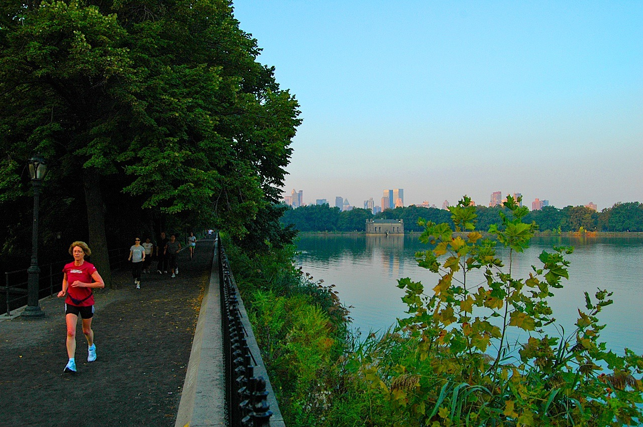 Central Park's Running Track – the 1.58-mile track looping around the Reservoir
