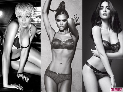 Who's the sexiest Armani model: Victoria, Megan or Rihanna?
