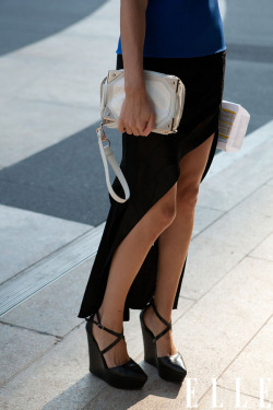 elongate your legs… elle:  Fashion Week Street Style Photo: Imaxtree