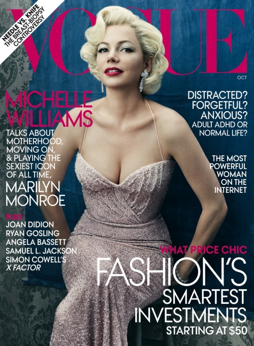 vogue:  On Newsstands Nationwide September 20th  Beauty of Ms. Monroe captured