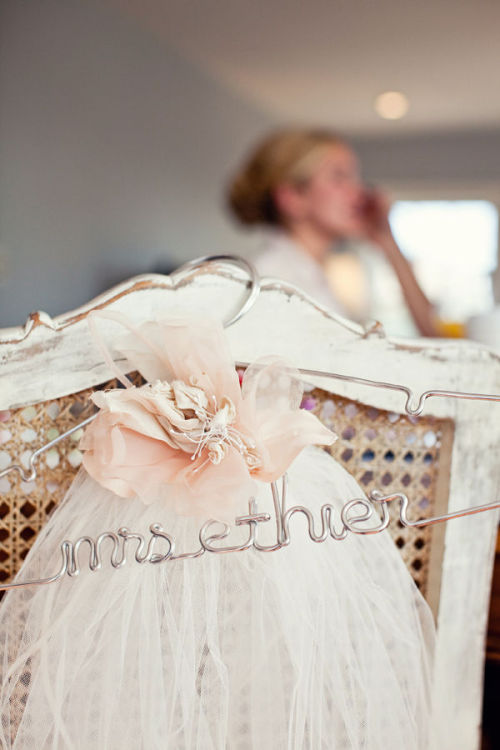 I have always wanted one of these beautiful hangers for my wedding day- now, Lovely Little Details is giving one away!