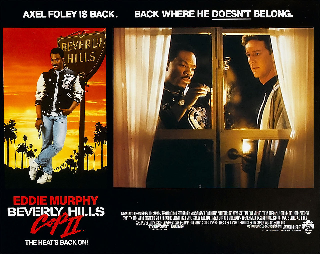 Beverly Hills Cop II, US lobby card. 1987