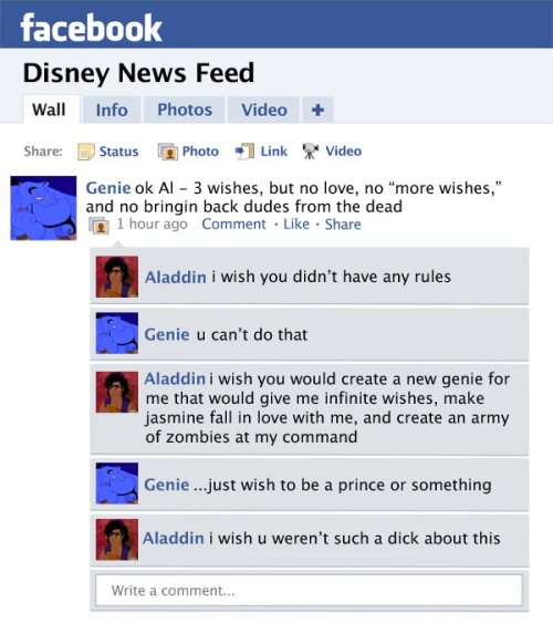 Disney Facebook News Feed (Click for more Disney favorites)