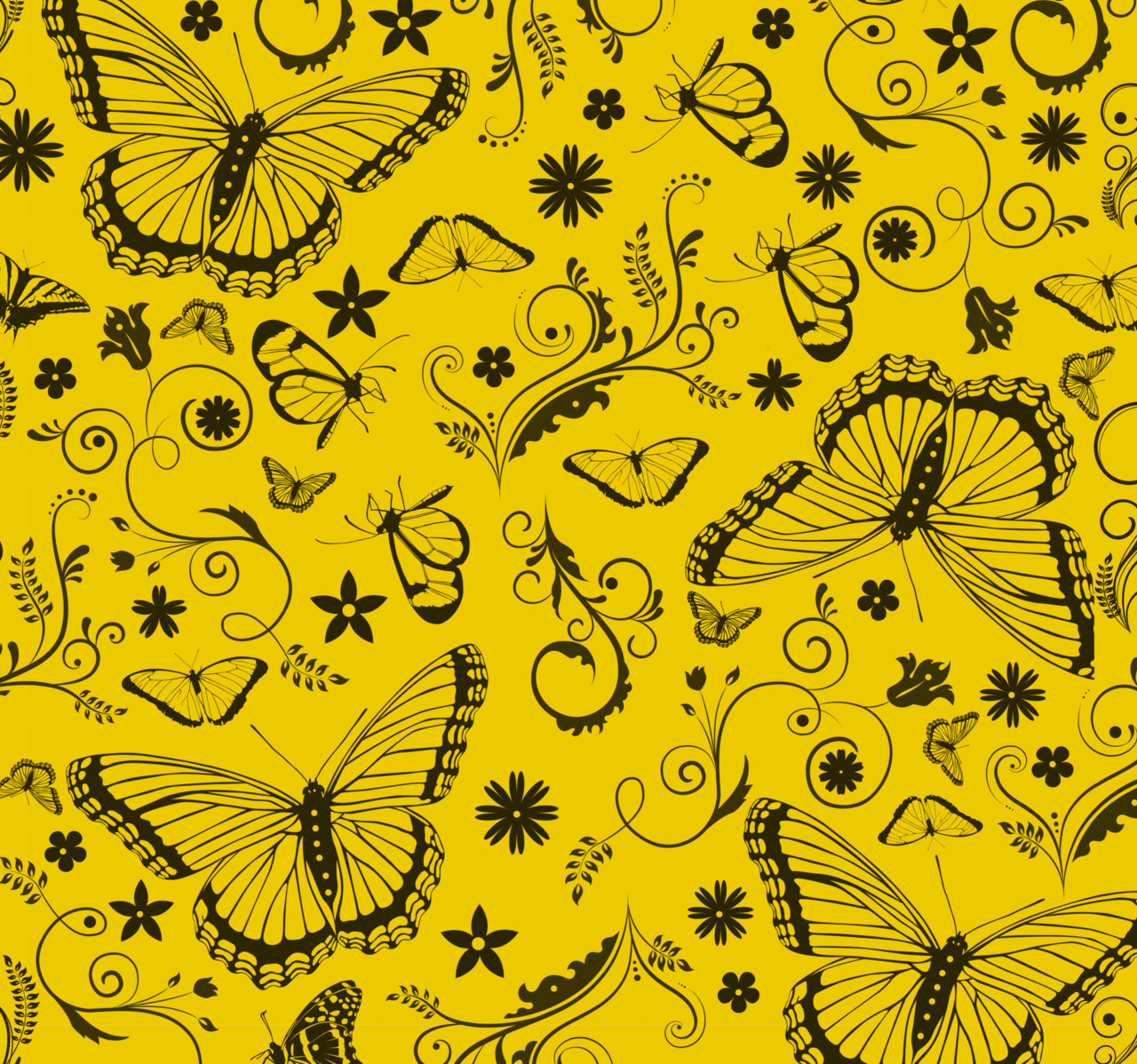 jbdesignstudio:    Butterflies and Flowers Pattern