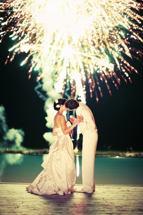 bridalsnob:  Firework celebration