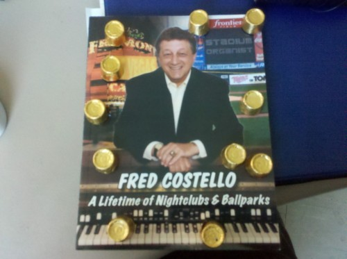 Amazing birthday gift from my friend Gina. Rollos and Fred Costello's book. For those of you that don't know, Fred is the stadium organist at Rochester Red Wings games, and my personal hero. He's the main reason I go. So good.
