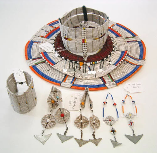 Maasai jewelry set via The Costume Institute of the Metropolitan Museum of Art