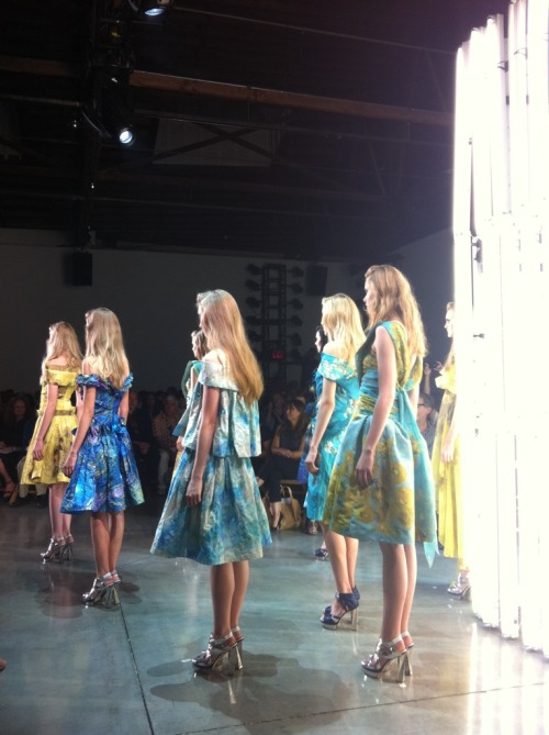 The finale at Rodarte. Photographed by Jane Keltner de Valle.