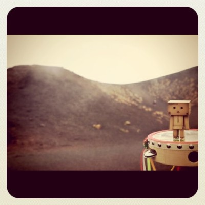 Danbo on Etna  (Taken with instagram)