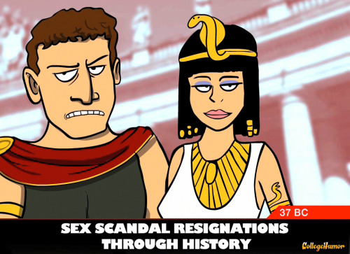 Sex Scandal Resignations Through History They swear it won't happen again. (Click through to watch)