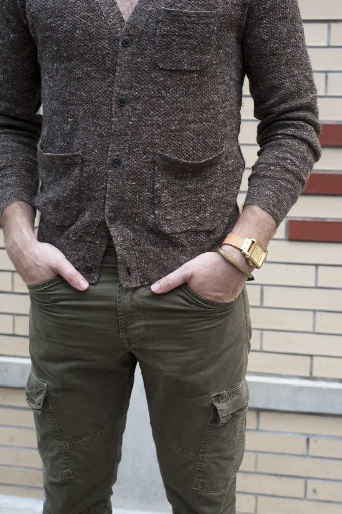 everlane:  JBrand Slim Cargos—rugged and functional and perfect for the transitioning seasons.