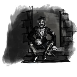 Another Character of the Week from ConceptArt. This time the count of Monte Cristo. It's not quite done and I wanted him to be sort of a thuggish Clark Gable.